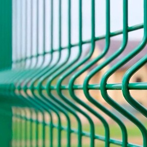3D панели ограждения из стальных прутьев с цинковым покрытием, с ребрами жесткости, с цветным, порошковым полимерным покрытием