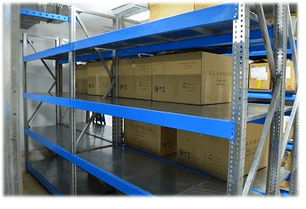 Стеллаж средне-грузовой полочный ССГ до 400 кг на полку